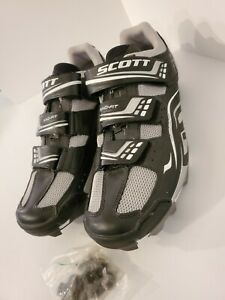 Womens NEW Scott Ano-Fit Cycling Shoes~ Black and White Size 9US W/Hardware