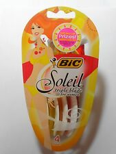 BIC Soleil Triple Blade For Women Disposable Razor 4 ct