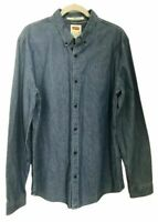 Levi's Jean Shirt Mens XL Blue Denim EUC