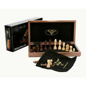 Dal Rossi 12 Walnut Folding Chess Set NEW