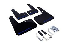 Rally Armor Mud Flaps Guards for 12-16 Veloster (Black w/Blue Logo)