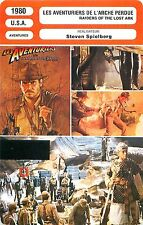 FICHE CINEMA FILM USA LES AVENTURES DE 'ARCHE PERDU/RAIDERS OF THE LOST ARK
