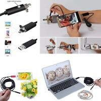 7mm 6LED Android 2in1 USB Endoscope IP67 Waterproof Borescope Camera Inspection