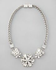 Kate Spade Silver Rhinestone Necklace NWT From Office to Night Out on Town!