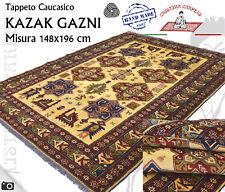 Tappeto Caucasico Kazak Gazni Beige Annodato a mano Lana 148x196 cm