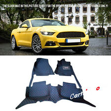 Waterproof Front & Rear Floor Mats Full Set For Ford Mustang (2 Door) 2015-2017
