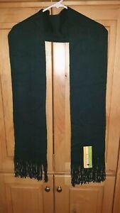 NWT New Unisex SMARTWOOL Longview Scarf Merino Wool Blend Evergreen Dark Green