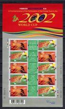 s7436) HONG KONG 2002 MNH** World Cup Football - CM Calcio S/S