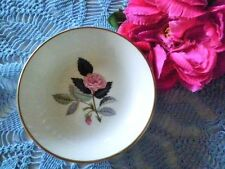 VINTAGE PIN DISH WEDGWOOD HATHAWAY ROSE ENGLAND PINK ROSE VGC see MORE LISTED