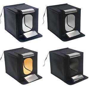 """LED770 LED 70x70cm 28"""" Lightbox pliable 65W Photo Cube de lumière tente Softbox"""