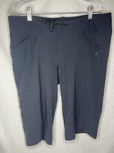 Womens Mountain Hardware Nylon Athletic Hiking Black Shorts w/pockets Size 12