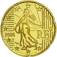 [#462128] France, 20 Euro Cent, 2005, BE, Laiton, KM:1286