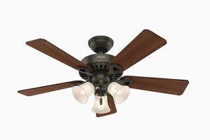 NEW Hunter Ridgefield II 44-in New Bronze Indoor Ceiling Fan (5-Blade)