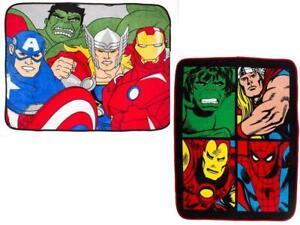 Marvel Comics Smash / Avengers Force Coral Fleece Winter Blanket Official New