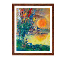Marc Chagall - Red moon at Cape Antibes, Giclee print Large Wall Pop Art Poster