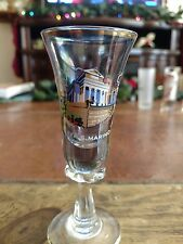 """Beautiful Gold Trimmed Hand Blown Shot Glass """"Rep. S. Marino"""" Nice Collectible"""