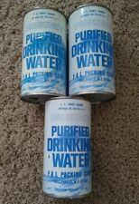 3 U S Coast Guard Emergency Drinking Water 10 2/3 oz Flat Top Cans Belleville Nj