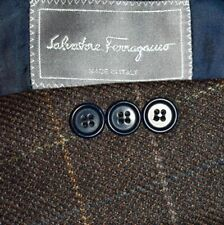 44L Salvatore Ferragamo Brown Plaid Mohair TWEED Sport Coat Blazer Jacket LNWOT