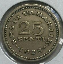 1928 Estonia 25 Senti - Better Type