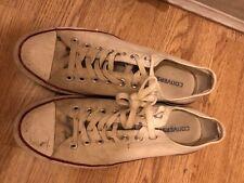 Converse All Star Beige Canvas Trainers Plimsolls Shoes Size U.K. 10