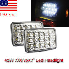 PAIR 7X6 5X7 LED Headlights DRL for International 5900i 7300 7400 9200 9400 9900