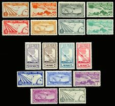 VENEZUELA 1937 AIRMAIL - Aviation  complete set  Scott # C47-C63 mint MNH