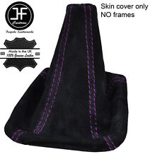 PURPLE STITCH REAL SUEDE GEAR BOOT FOR HOLDEN COMMODORE VY VZ SS HSV 02-06 SEDAN