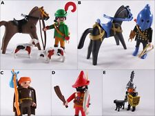 PLAYMOBIL VINTAGE BLUE KNIGHT BARON MONK FOREST HUNTER HWY ROBBER-COLLECTOR-EXC