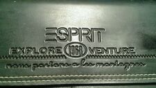 "ESPRIT BLACK LEATHER ""VINTAGE"" WALLET"