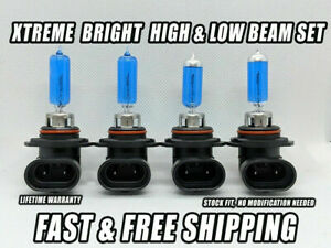 Xtreme White Headlight Bulbs For Jaguar XJRS 1993 High & Low Beam Set of 4