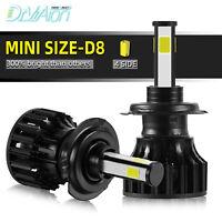 2X H7 LED Phare de Voiture Ampoule Headlight 6000K 200W 30000LM Xénon Blanc Beam