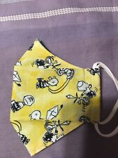 Snoopy Charlie Brown Peanuts Double Layer Cotton Handmade Face Mask 3D. 100% Cot