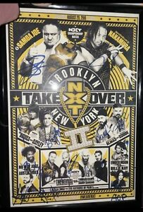 WWE NXT Takeover Brooklyn 2 SIGNED poster Only 50 Made Autographed Full Card