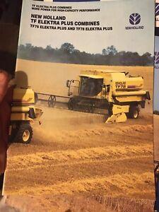New Holland TF76 TF78 Elektra range combine tractor brochure