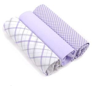 Purple Vincent Di Mani 100% Cotton Men's Plaid Handkerchief Set Multi-pack