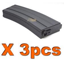 3X 190rds Mid-Cap AEG Magazine for Airsoft Marui G&P ICS Cybergun CYMA M4 Series