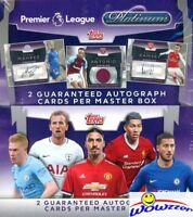 2018 Topps Platinum English Premier League Soccer Sealed HOBBY Box-2 AUTOGRAPH