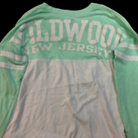 "Exist ""Wildwood New Jersey"" Color Block Long Sleeve Shirt, Women's Size 8"