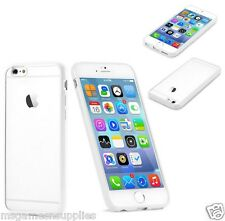 White Bumper Case with CLEAR BACK Rigid Hard Plastic Case for iPhone 6 6G 4.7""