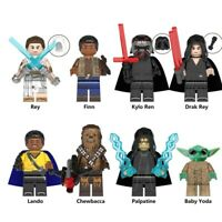 Star Wars Minifigures Movie The Rise of Skywalker Rey Kylo Ren Chewbacca Yoda