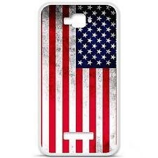 Coque housse étui tpu gel motif drapeau USA Alcatel One Touch Pop C7