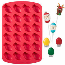 Bite-Size Christmas Light Bulb Silicone Mold Pan 24 cavity from Wilton #1554