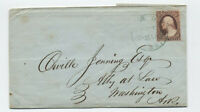 1852 Camden AR CDS on #11 folded letter green? [H.210]