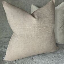 """Designer Cushion Cover 16"""" John Lewis & Partners Fabric , Textured Twill Pink"""