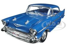 "1957 CHEVROLET 210 HARDTOP ""SLEEPER"" BLUE 1/24 DIECAST BY M2 MACHINES 40300-54A"