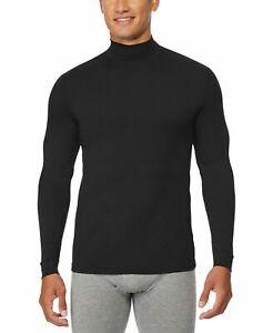 New 32 Degrees Men's Size Medium (38-40) Black Mock Neck L/s Base Layer Shirt