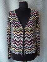 ♣ Missoni Lindex Cardigan  Jumper  Multicolour Zig Zag Knit Size S