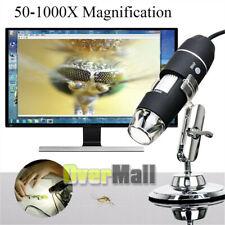 Portable USB Digital Microscope 50x-1000x Magnification 8-LED Mini Microscope En