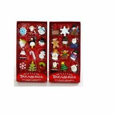 2 Pack 12 Piece Petite Treasures Miniature Glass Christmas Tree Ornaments Set