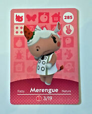 Animal Crossing Amiibo Card - MERENGUE 285 Mint, NEVER SCANNED, GENUINE PRODUCT
